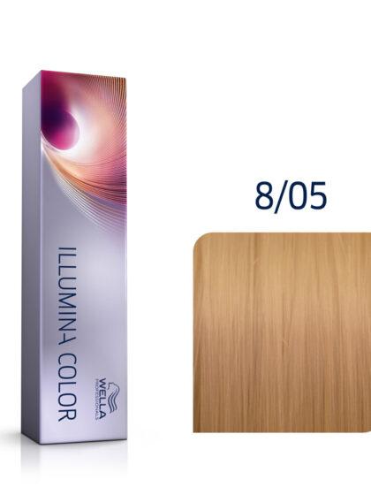 Wella Illumina Color 8/05 Light Natural Mahogany Blonde 60ml