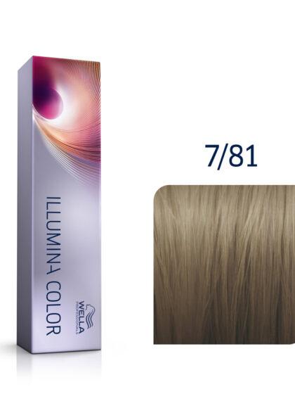 Wella Illumina Color 7/81 Medium Pearl Ash Blonde 60ml