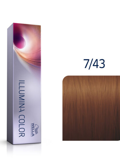 Wella Illumina Color 7/43 Medium Red Gold Blonde 60ml