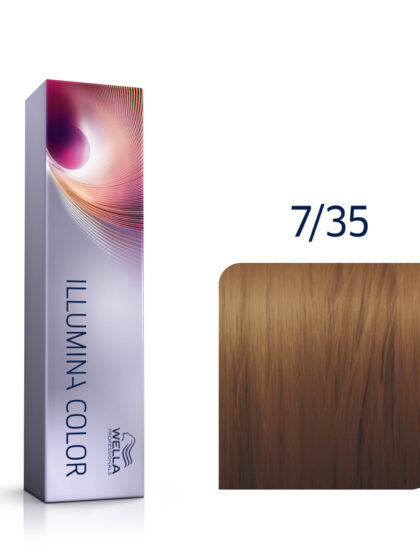 Wella Illumina Color 7/35 Medium Gold Mahogany Brown 60ml