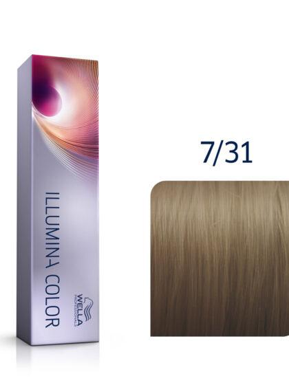 Wella Illumina Color 7/31 Medium Gold Ash Blonde 60ml