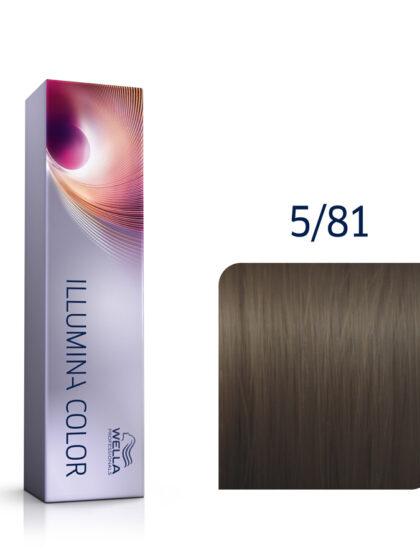 Wella Illumina Color 5/81 Light Pearl Ash Brown 60ml