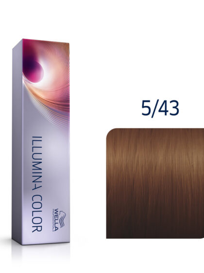 Wella Illumina Color 5/43 Light Red Gold Brown 60ml