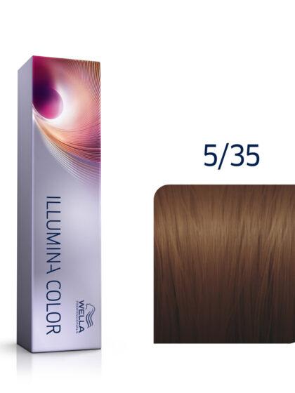 Wella Illumina Color 5/35 Light Gold Mahogany Brown 60ml