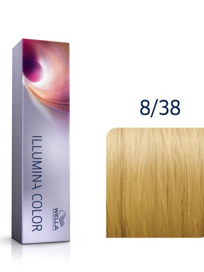 Wella Illumina Color 8/38 Light Gold Pearl Blonde 60ml