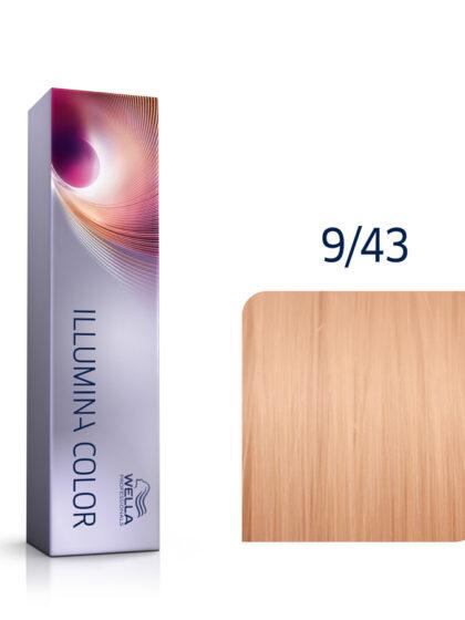 Wella Illumina Color 9/43 Very Light Red Gold Blonde 60ml