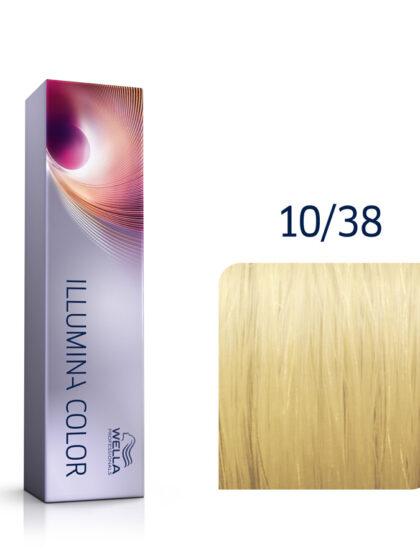 Wella Illumina Color 10/38 Lightest Gold Pearl Blonde 60ml