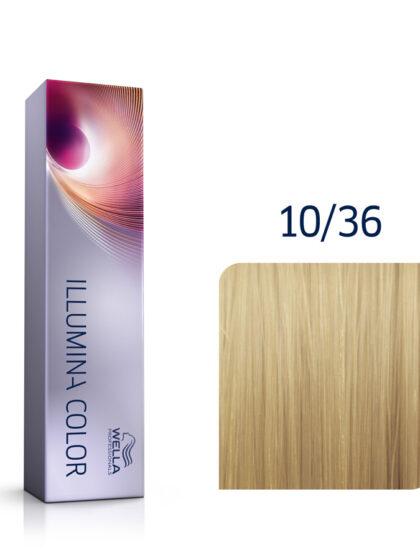 Wella Illumina Color 10/36 Lightest Gold Violet Blonde 60ml