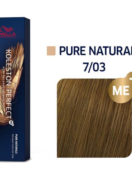 Wella Professionals Koleston Perfect Me Pure Naturals 7/03 60ml