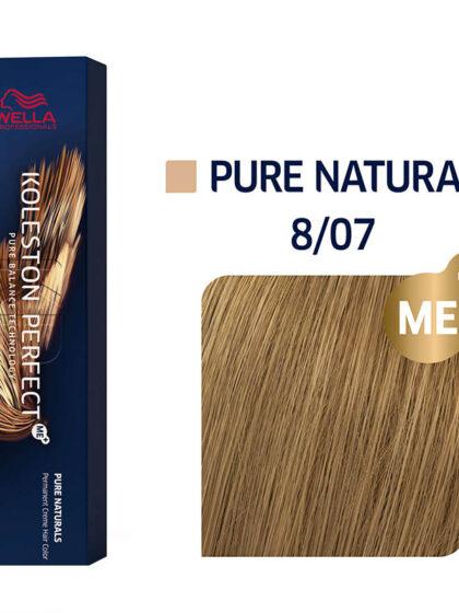 Wella Professionals Koleston Perfect Me Pure Naturals 8/07 60ml