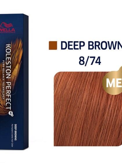 Wella Professionals Koleston Perfect Me Deep Browns 8/74 60ml