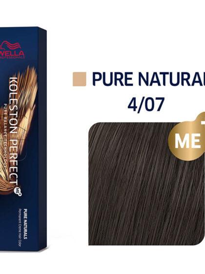 Wella Professionals Koleston Perfect Me Pure Naturals 4/07 60ml