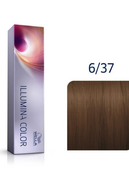 Wella Illumina Color 6/37 Dark Blonde Gold Brown 60ml